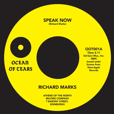 Richard Marks/SPEAK NOW 7""