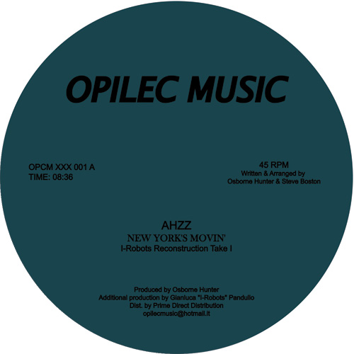 Ahzz/NEW YORK'S MOVIN' (I-ROBOTS RX) 12""
