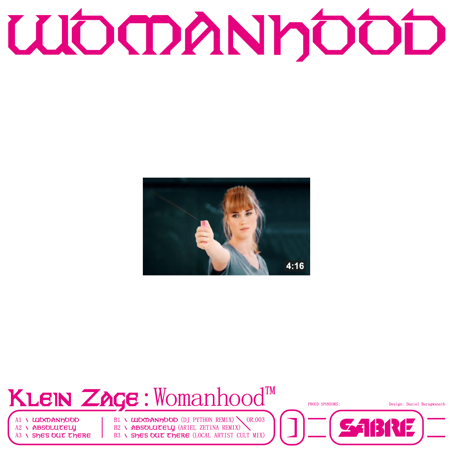 Klein Zage/WOMANHOOD EP 12""