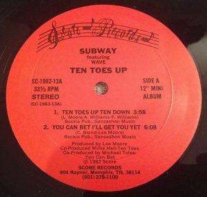 """Subway/TEN TOES UP 12"""""""