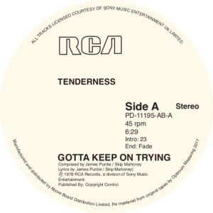 Tenderness/KEEP ON TRYING 12""