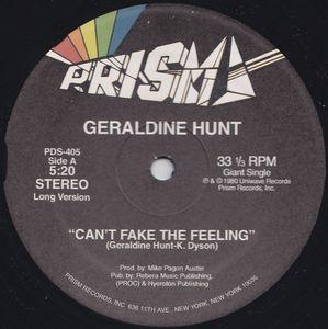 "Geraldine Hunt/CANT FAKE THE FEELING 12"""
