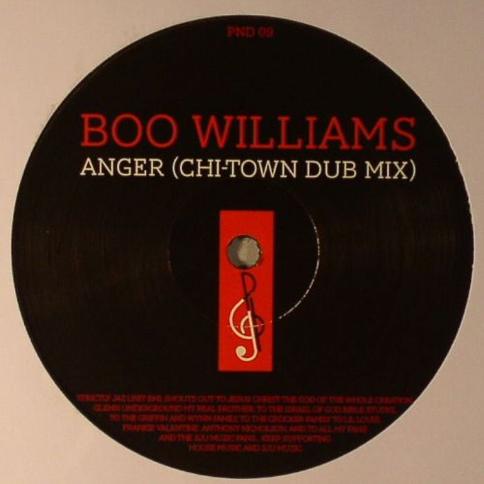 Boo Williams/ANGER & FLASHBACK 12""
