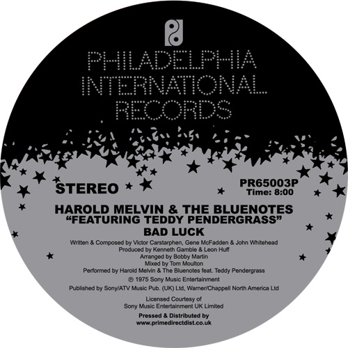 "Harold Melvin/BAD LUCK-T MOULTON MIX 12"""