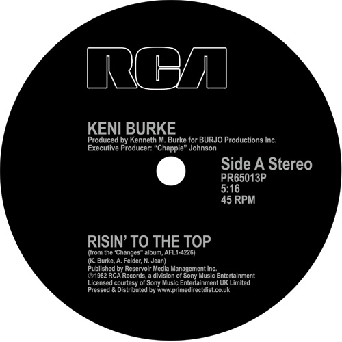 Keni Burke/RISIN' TO THE TOP 12""