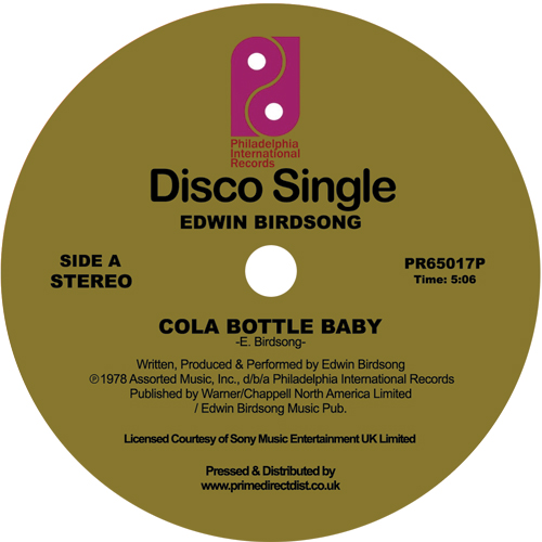 Edwin Birdsong/COLA BOTTLE BABY 12""