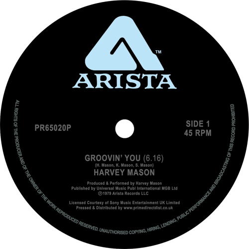 Harvey Mason/GROOVIN' YOU -RSD 12""