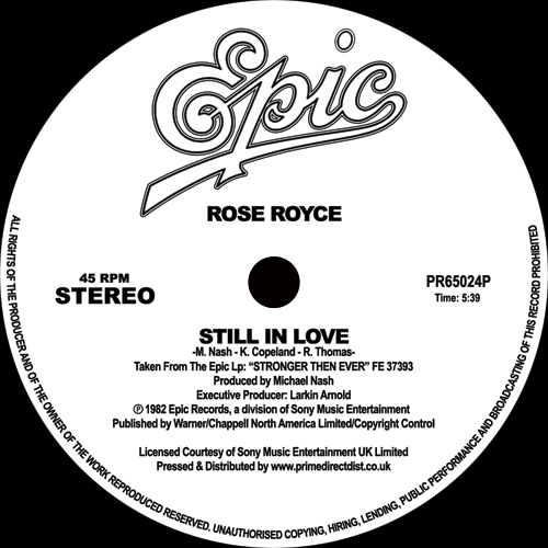 Rose Royce/STILL IN LOVE 12""