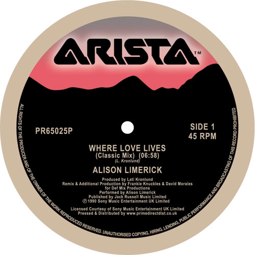 Alison Limerick/WHERE LOVE LIVES 12""