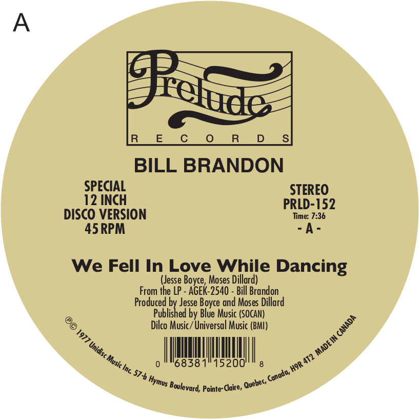 Bill Brandon/WE FELL IN LOVE... 12""