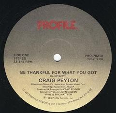 Craig Peyton/BE THANKFUL... 12""