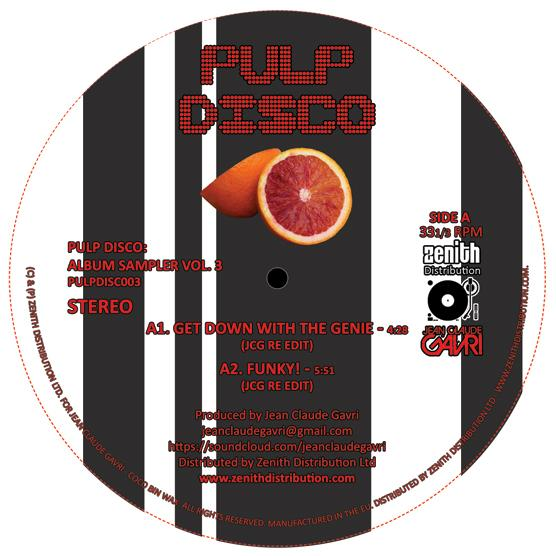 Jean Claude Gavri/PULP DISCO VOL 3 12""
