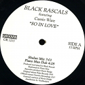 Black Rascals/SO IN LOVE 12""