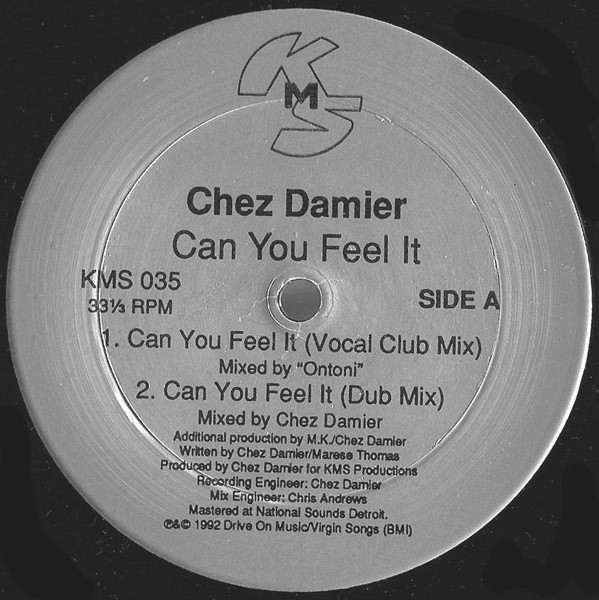 Chez Damier/CAN YOU FEEL IT (CV) 12""