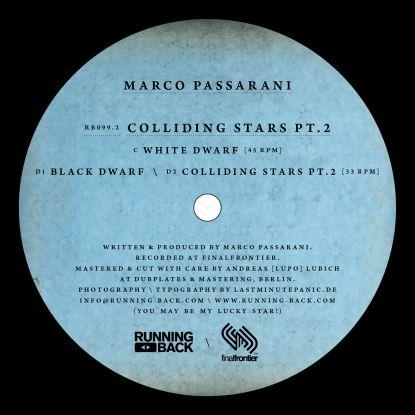 "Marco Passarani/COLLIDING STARS PT.2 12"""