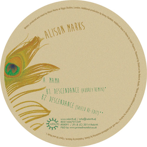 "Alison Marks/MAMA (AUBREY REMIX) 12"""