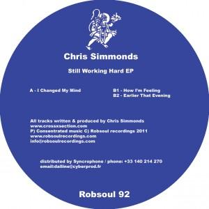 "Chris Simmonds/STILL WORKING HARD EP 12"""