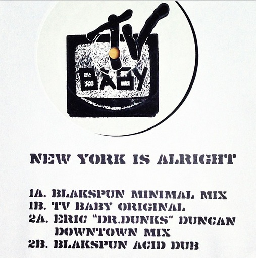TV Baby/NY IS ALRIGHT ORIG MIX 12""