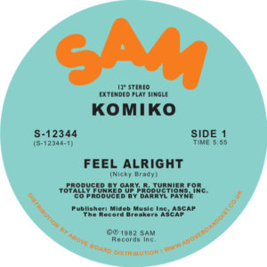 Komiko/FEEL ALRIGHT 12""