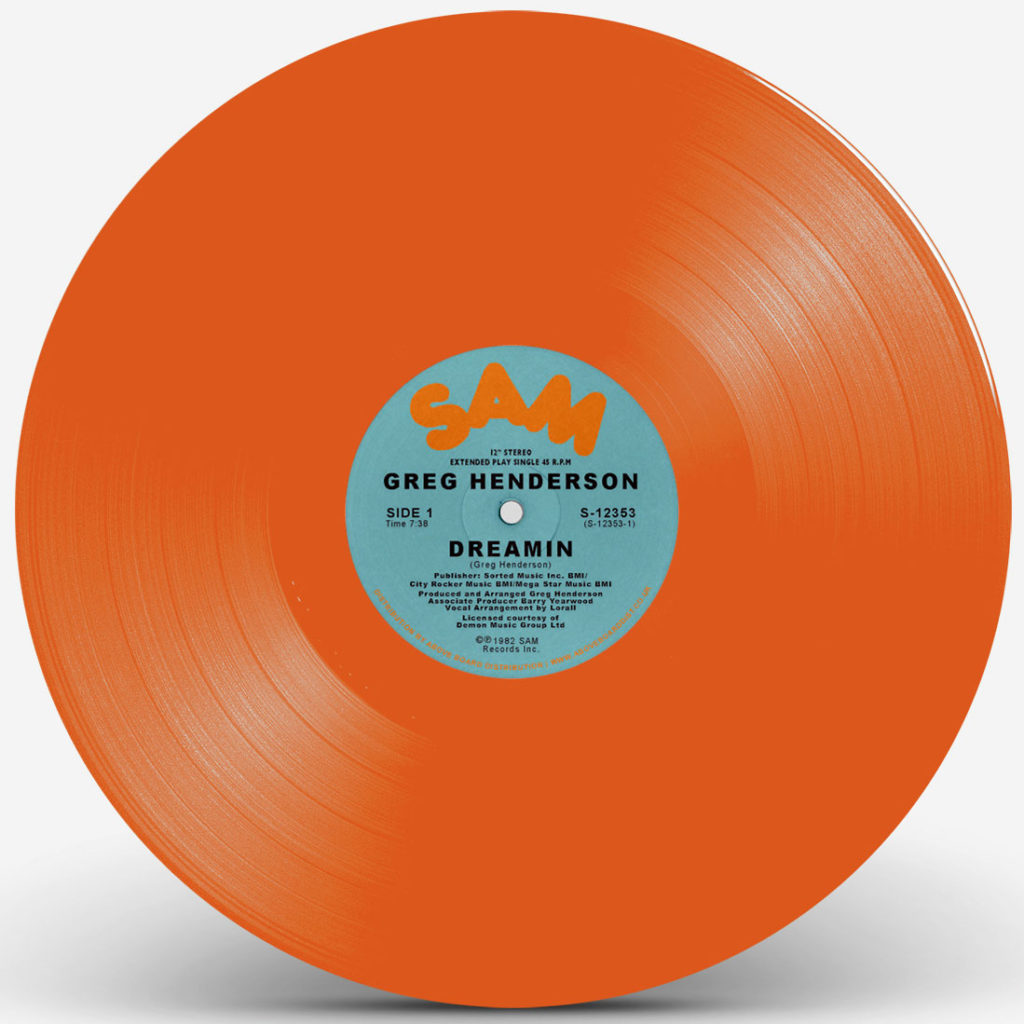 Greg Henderson/DREAMIN (ORANGE) 12""