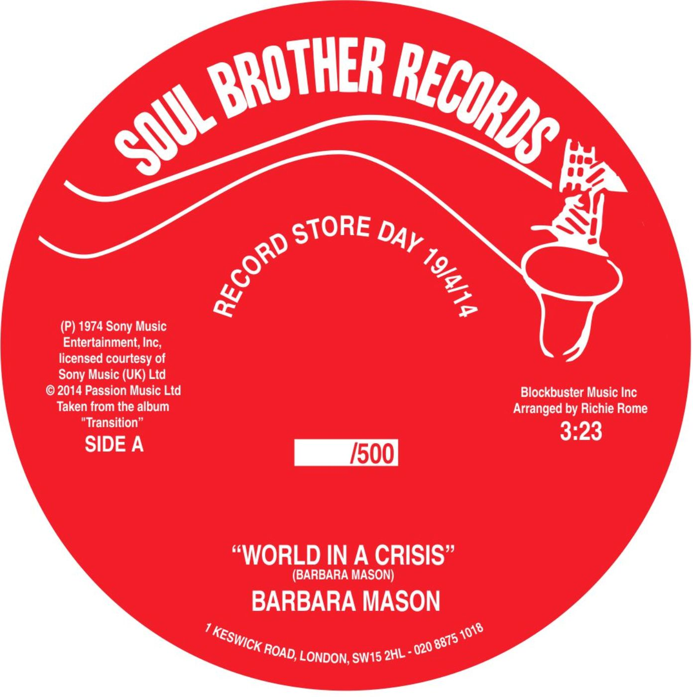Barbara Mason/WORLD IN CRISIS 7""