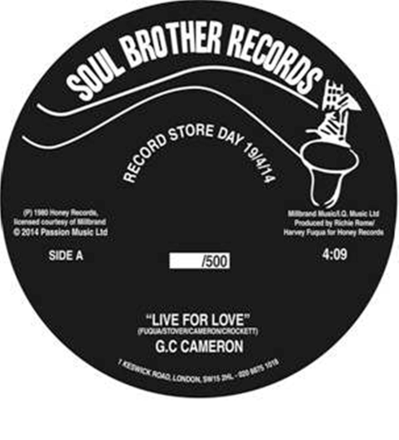 """G.C. Cameron/LIVE FOR LOVE  7"""""""
