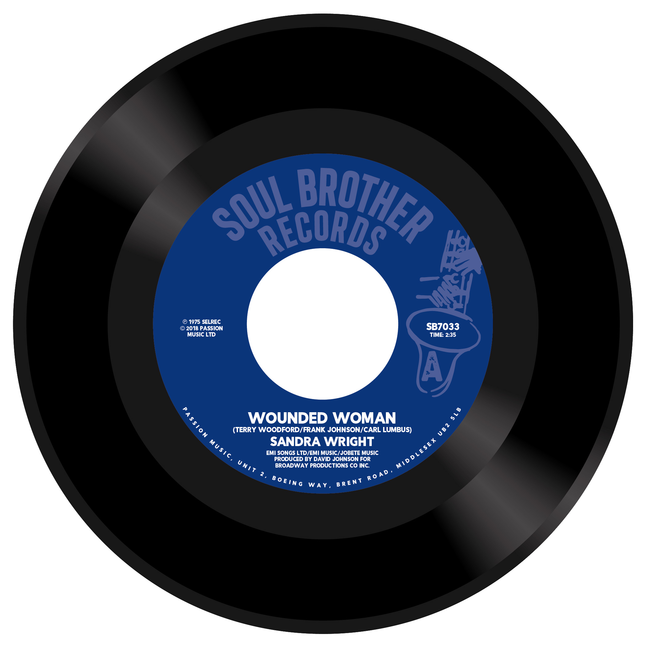 Sandra Wright/WOUNDED WOMAN & MIDNGHT 7""