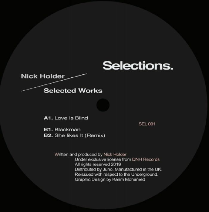 """Nick Holder/SELECTED WORKS 12"""""""