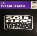 DJ B/I'VE GOT TO KNOW 12""