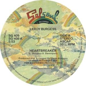 """Leroy Burgess/HEARTBREAKER 12"""""""