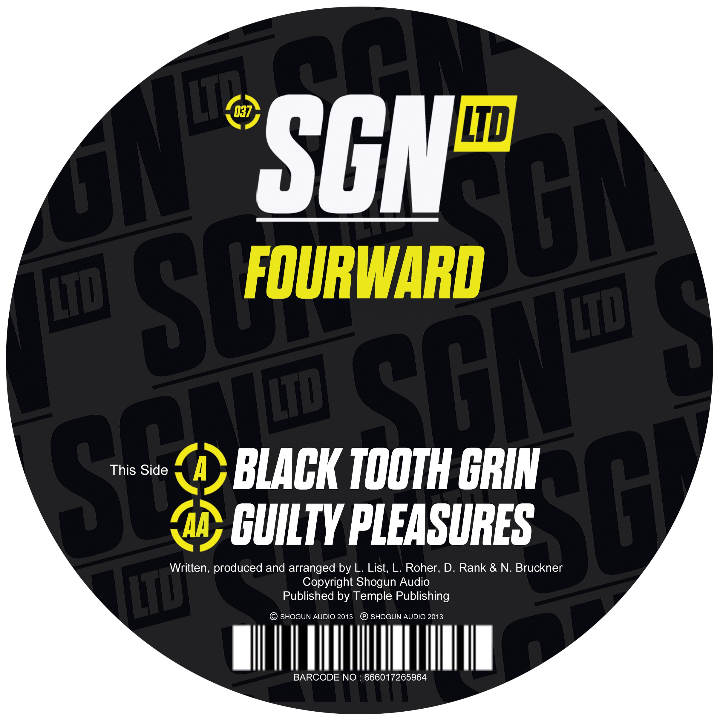 Fourward/BLACK TOOTH GRIN 12""