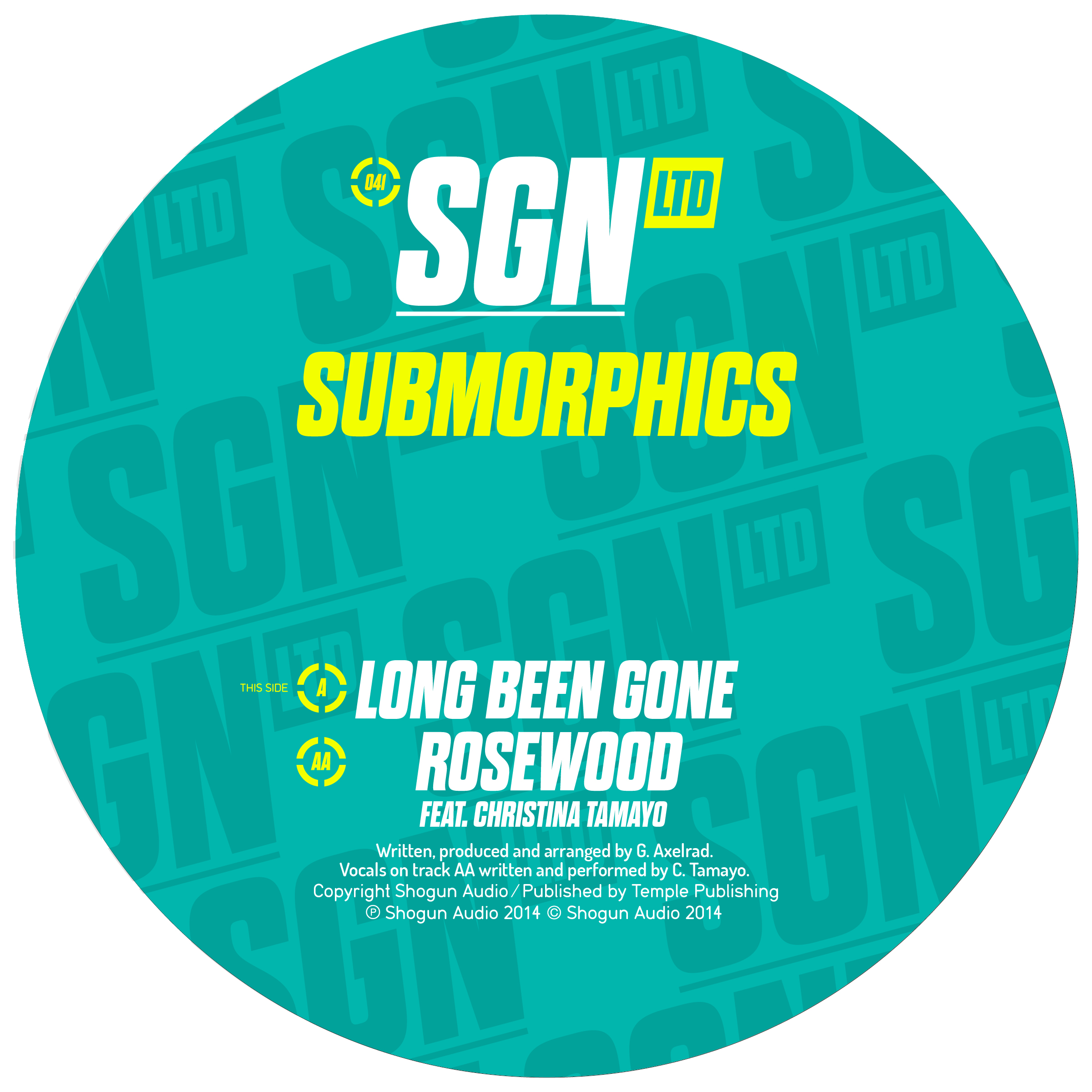 Submorphics/LONG BEEN GONE 12""