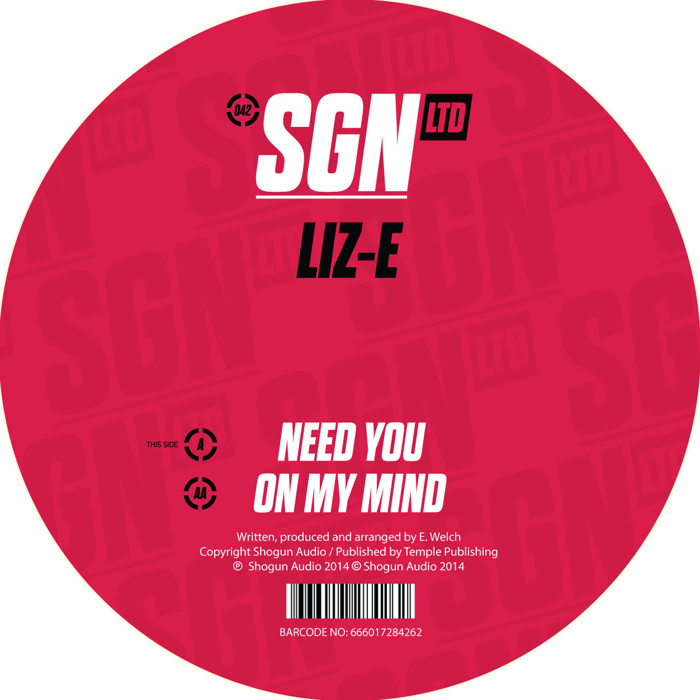 Liz-E/NEED YOU 12""
