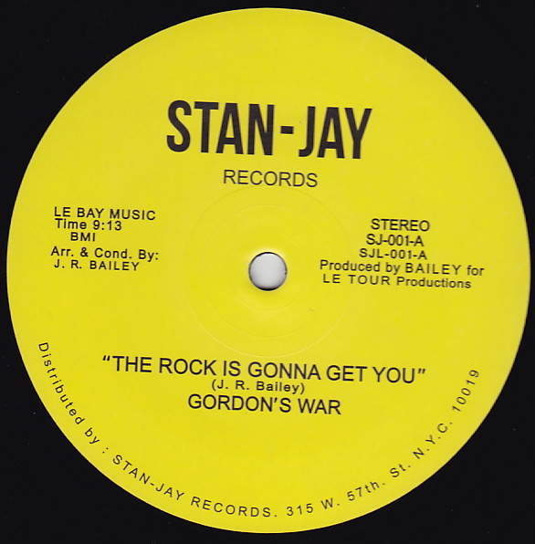 Gordon's War/THE ROCK IS GONNA GET 12""