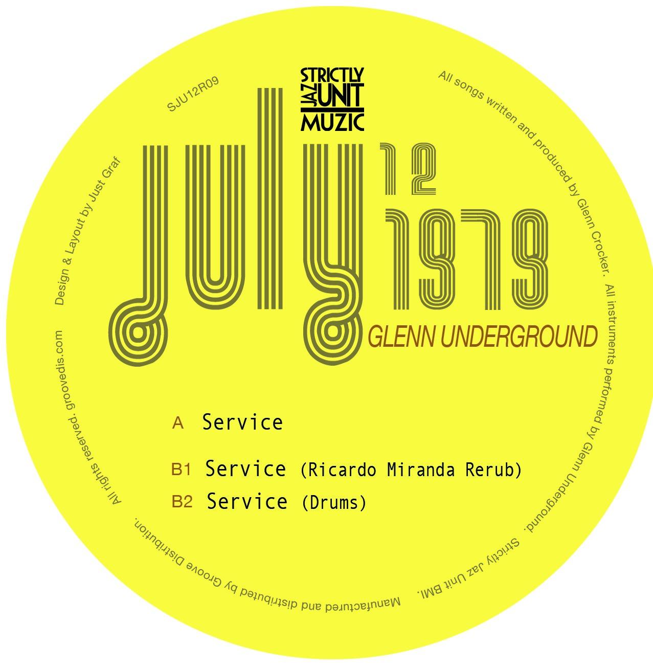 """Glenn Underground/SERVICE REMIXES 12"""""""