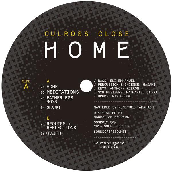"Culross Close (aka K15)/HOME EP 12"""