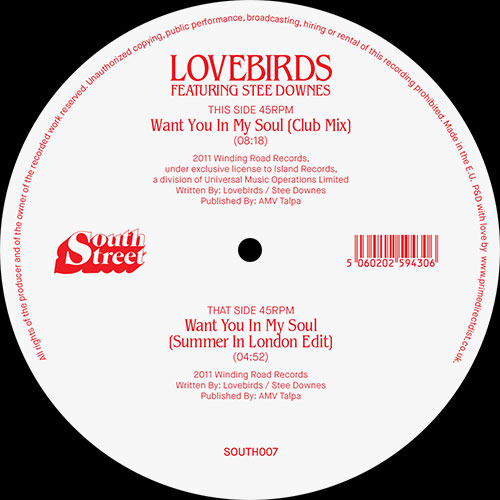 Lovebirds/WANT YOU IN MY SOUL 12""
