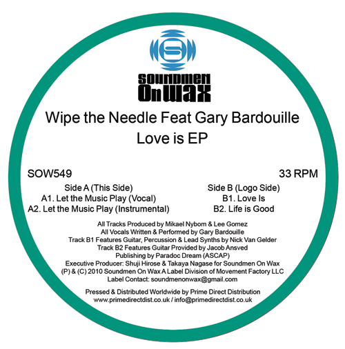 Wipe The Needle/LOVE IS FEAT GARY B 12""