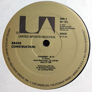 Brass Construction/CHANGIN - MOVIN 12""