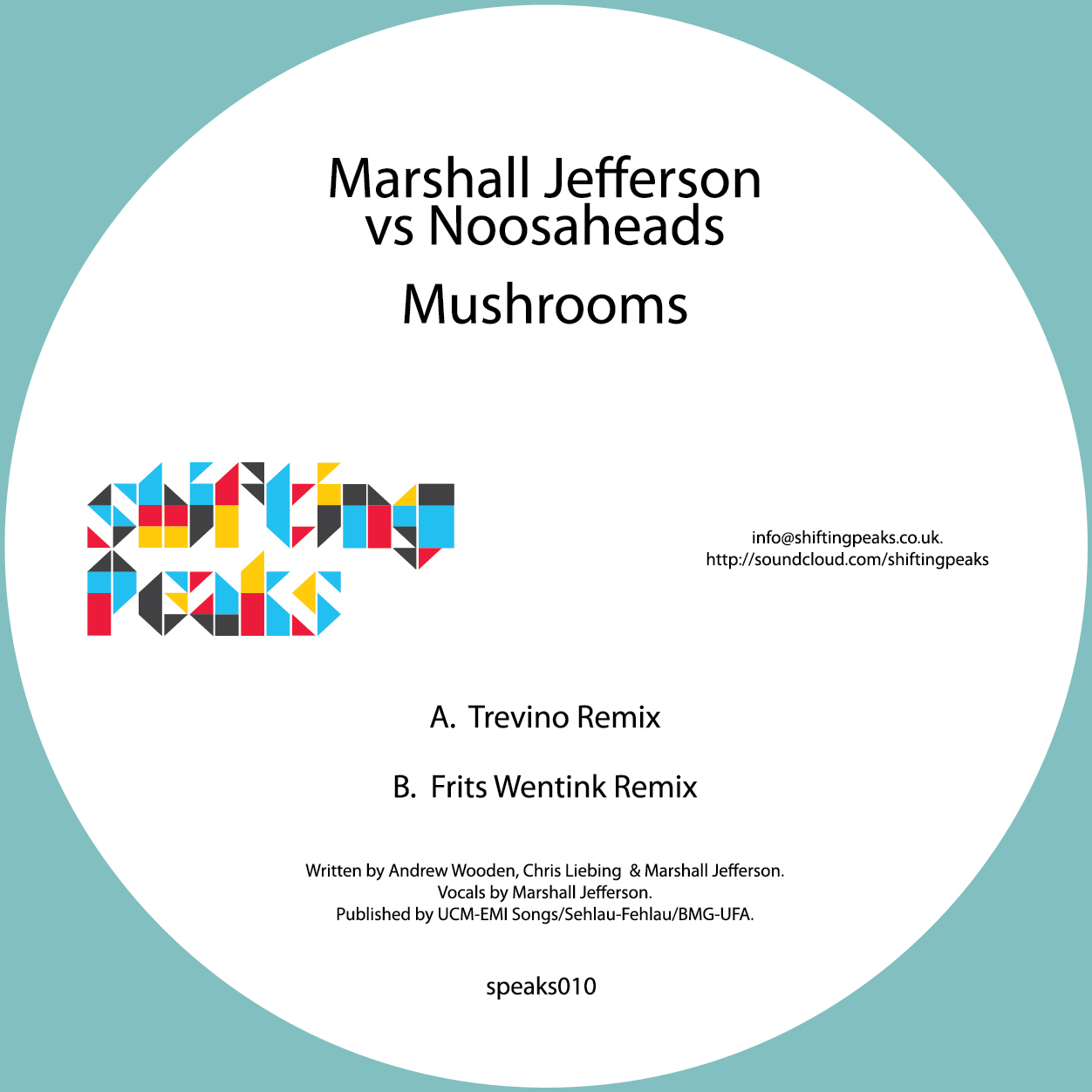 Marshall Jefferson/MUSHROOMS-2012 RX 12""