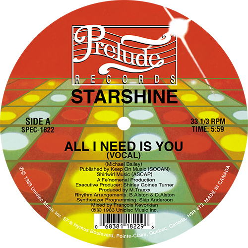 Starshine/ALL I NEED IS YOU 12""