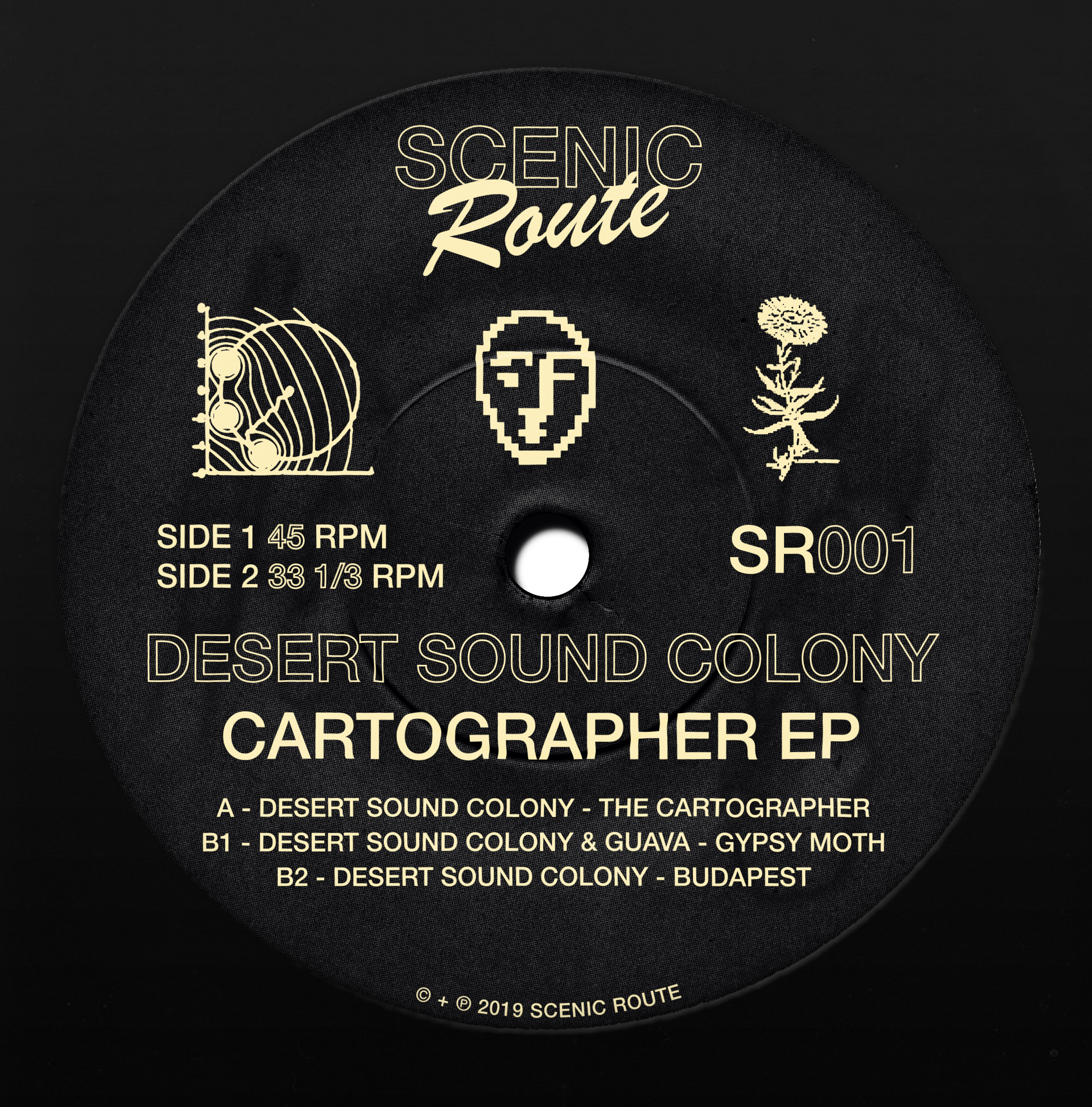"Desert Sound Colony/CARTOGRAPHER EP 12"""