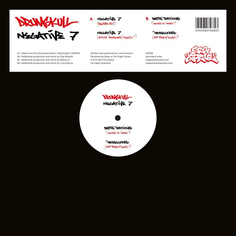 "Drumskull/NEGATIVE 7 12"""