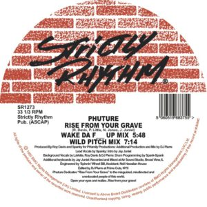 Phuture/RISE FROM YOUR GRAVE 12""