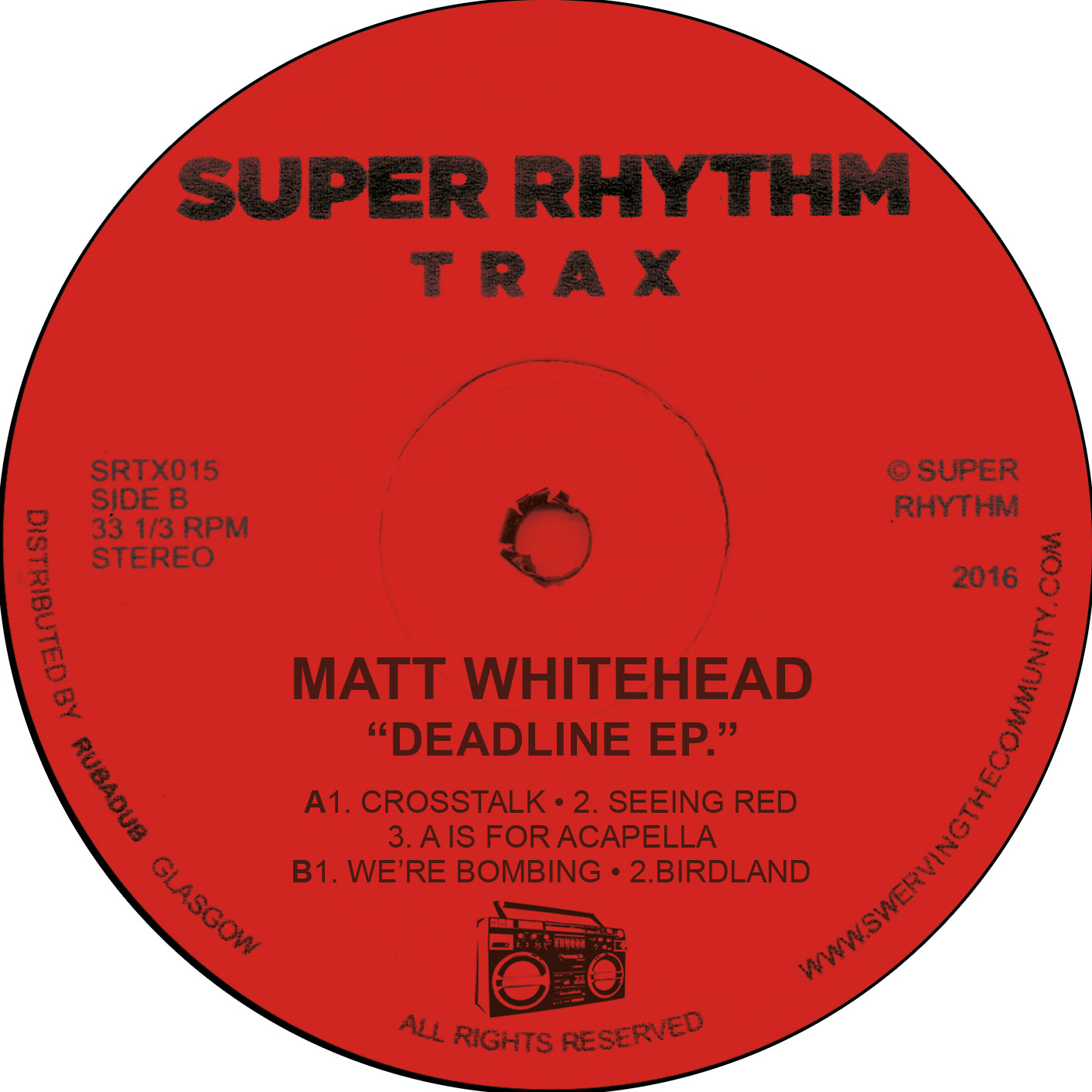 Matt Whitehead/BOMBING EP 12""