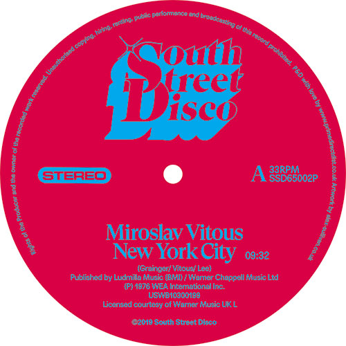 Miroslav Vitous/NEW YORK CITY 12""