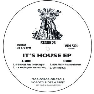"Vin Sol & Tyree Cooper/IT'S HOUSE 12"""