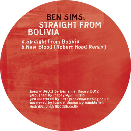 """Ben Sims/STRAIGHT FROM BOLIVIA 12"""""""