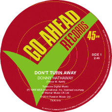 """Donny Hathaway/DON'T TURN AWAY 7"""""""