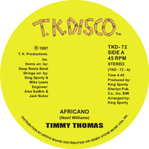 Timmy Thomas/AFRICANO 12""